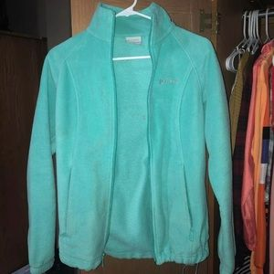 Mint Green Columbia Fleece Jacket